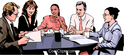 business meeting, people in business Royalty Free Vector Clip Art illustration peop4267