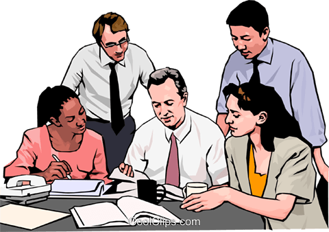 Business meeting, people in business Royalty Free Vector Clip Art illustration peop4268