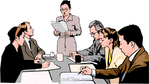 business meeting, people in business Royalty Free Vector Clip Art illustration peop4269