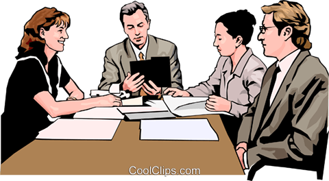 business meeting, people in business Royalty Free Vector Clip Art illustration peop4271
