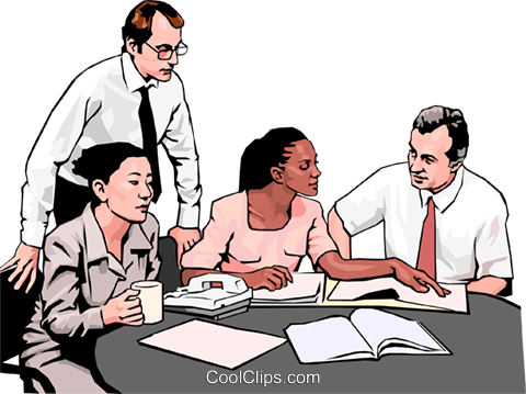 business meeting, people in business Royalty Free Vector Clip Art illustration peop4273
