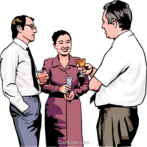 people meeting at an office party Royalty Free Vector Clip Art illustration peop4274