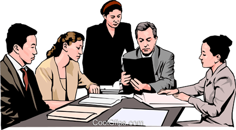 business meeting, people in business Royalty Free Vector Clip Art illustration peop4276