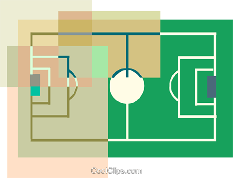 Soccer field Royalty Free Vector Clip Art illustration spor0552
