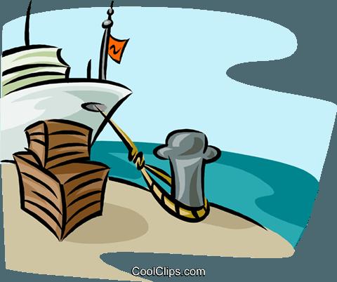 Schiff am Hafen Beladen Vektor Clipart Bild -tran1056-CoolCLIPS.com