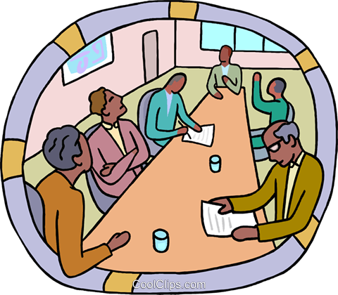 Boardroom meeting Royalty Free Vector Clip Art illustration busi2614