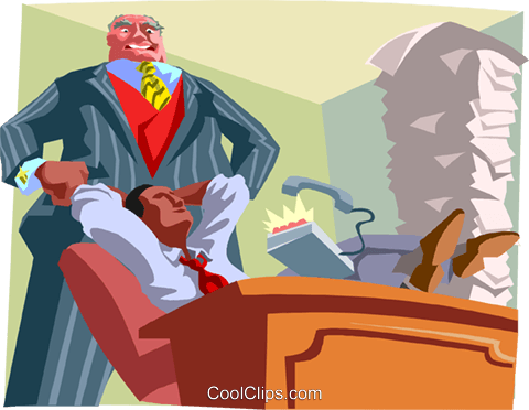 employee relaxing Royalty Free Vector Clip Art illustration busi2625