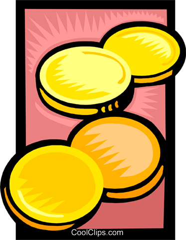 gold coins Royalty Free Vector Clip Art illustration busi2640