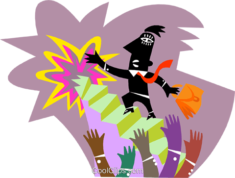 man waving goodbye at retirement party Royalty Free Vector Clip Art illustration busi2644