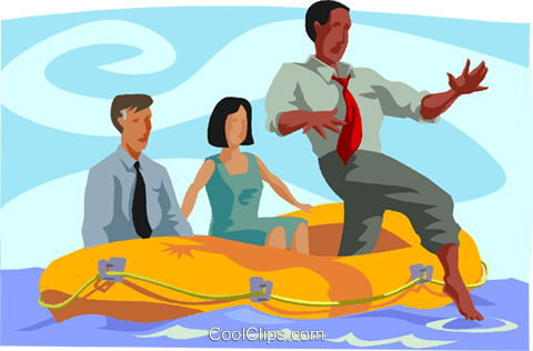 business metaphors, testing the waters Royalty Free Vector Clip Art illustration busi2653