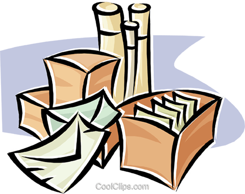 shipping packages Royalty Free Vector Clip Art illustration busi2674