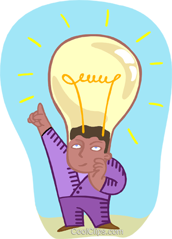 student with an idea Royalty Free Vector Clip Art illustration educ0067