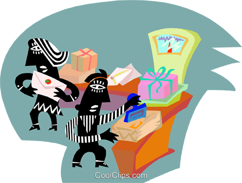 postal operations, mail, industry Royalty Free Vector Clip Art illustration indu1127