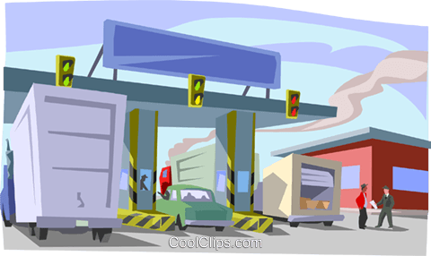 transportation, border crossing Royalty Free Vector Clip Art illustration indu1136