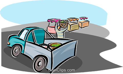 delivering crops to market Royalty Free Vector Clip Art illustration indu1159
