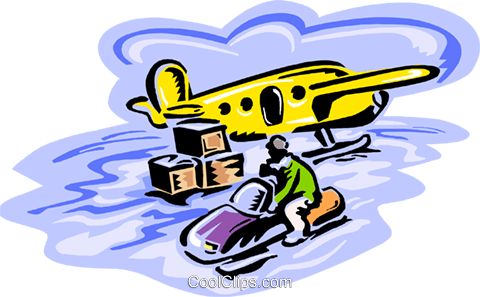 snowmobile, remote transport Royalty Free Vector Clip Art illustration tran1061