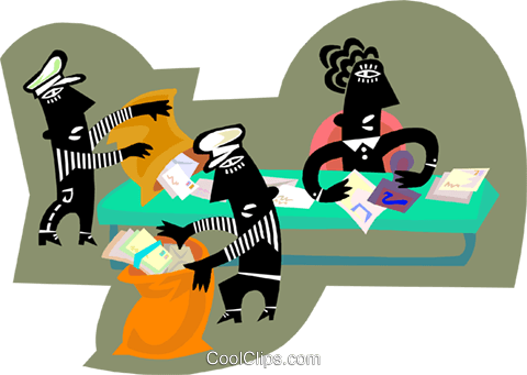 mailroom workers Royalty Free Vector Clip Art illustration busi2681