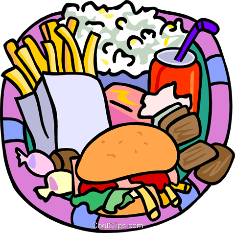Food and dining, fast foods Royalty Free Vector Clip Art illustration food1251