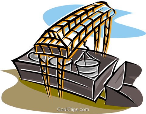 loading a railcar Royalty Free Vector Clip Art illustration indu1163