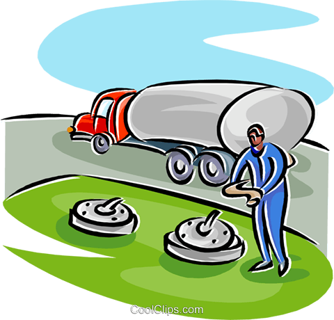 petroleum truck delivery gasoline Royalty Free Vector Clip Art illustration indu1169