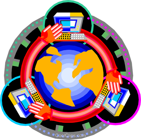 global communications Royalty Free Vector Clip Art illustration vc000019