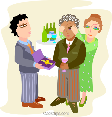 office retirement party Royalty Free Vector Clip Art illustration vc000024