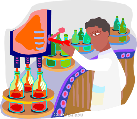 assembly line worker royalty free vector clip art