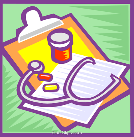 doctor's clipboard Royalty Free Vector Clip Art illustration vc000091