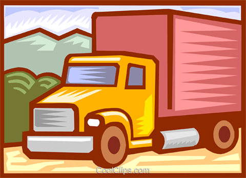 transport truck Royalty Free Vector Clip Art illustration vc000095