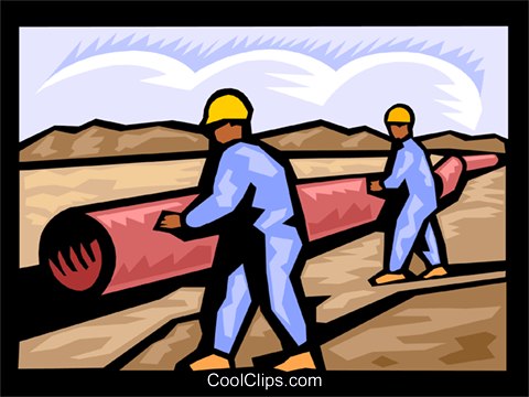 energy pipeline Royalty Free Vector Clip Art illustration vc000103