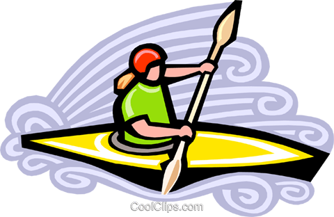 kayaking Royalty Free Vector Clip Art illustration vc000112