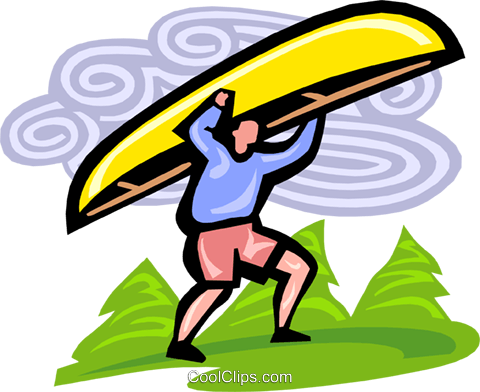 canoeist Royalty Free Vector Clip Art illustration vc000129