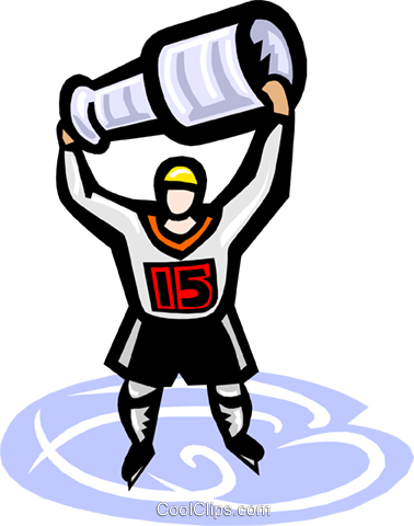 Ice hockey, champions Royalty Free Vector Clip Art illustration vc000142