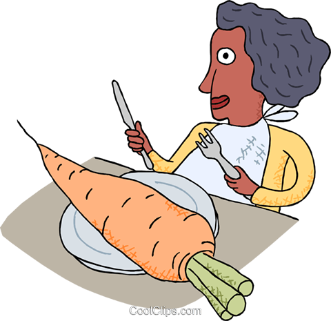 healthy eating, carrot Royalty Free Vector Clip Art illustration vc000160