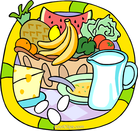 Fresh Fruits And Dairy Products Royalty Free Vector Clip Art Illustration Vc000176 Coolclips Com