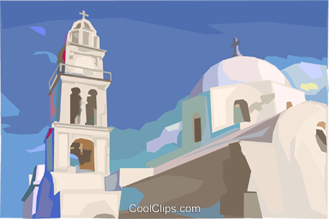 Mediterranean landscape Royalty Free Vector Clip Art illustration vc000192