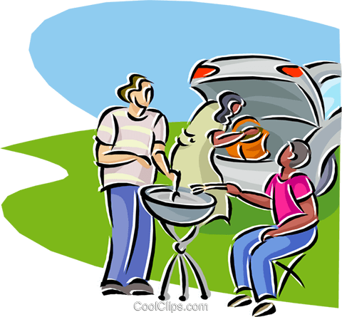 family barbeque Royalty Free Vector Clip Art illustration vc000259