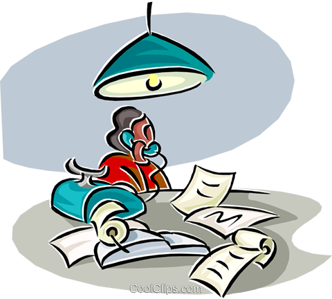 working late Royalty Free Vector Clip Art illustration vc000269