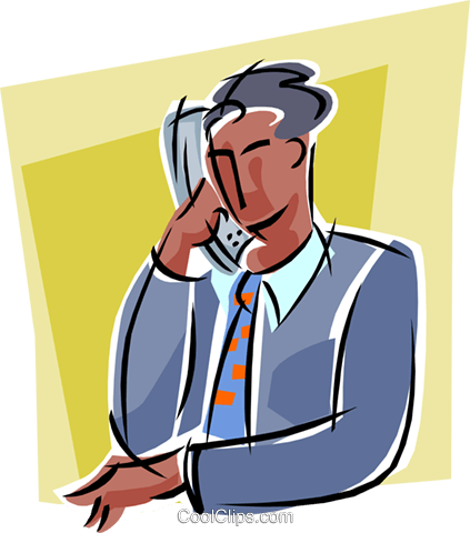 man on telephone Royalty Free Vector Clip Art illustration vc000293