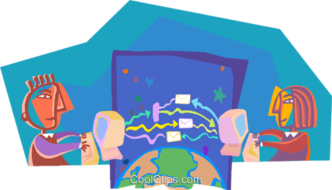 business metaphors, global computing Royalty Free Vector Clip Art illustration vc000308