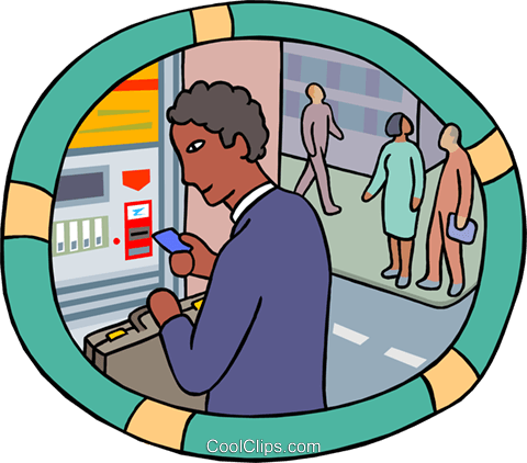 Man Using ATM Machine. Royalty Free Cliparts, Vectors, And Stock  Illustration. Image 87916636.