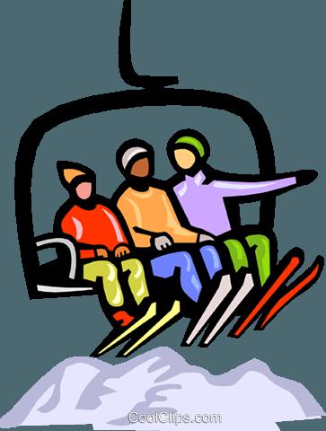 Skifahren Sessellift Vektor Clipart Bild Vc000378 Coolclips Com