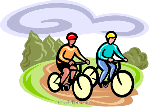 cycling Royalty Free Vector Clip Art illustration vc000384