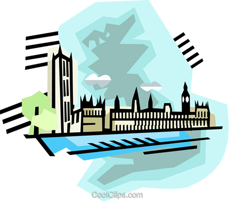geotechnical style, England Royalty Free Vector Clip Art illustration vc000387