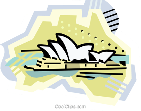 Geotechnical style, Australia Royalty Free Vector Clip Art illustration vc000390