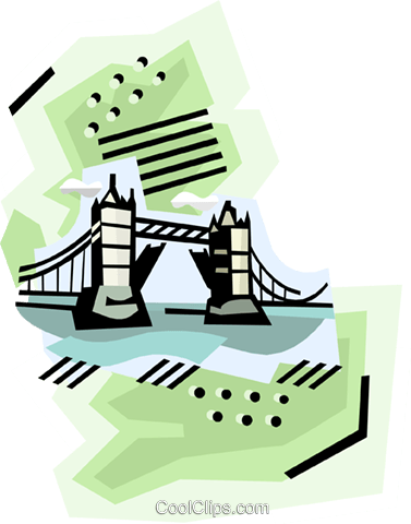 Geotechnical style, England Royalty Free Vector Clip Art illustration vc000393