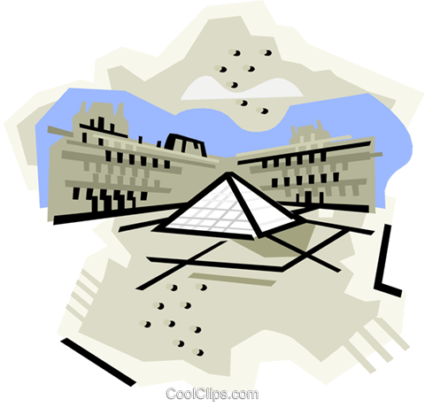 Geotechnical style, France Royalty Free Vector Clip Art illustration vc000397