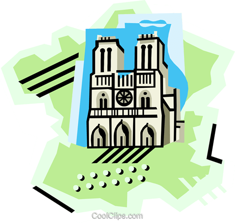 geotechnical style, France Royalty Free Vector Clip Art illustration vc000403