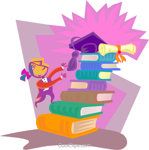 education, books Royalty Free Vector Clip Art illustration vc000428