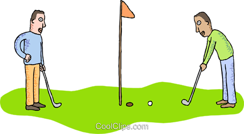 golf Royalty Free Vector Clip Art illustration vc000449